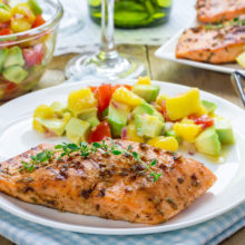 NJBC Eats: Salmon with Mango Salsa
